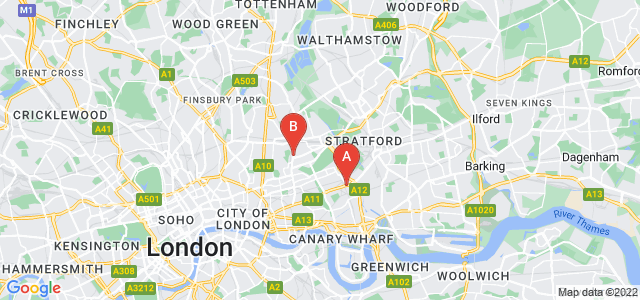 Google static map for Bow