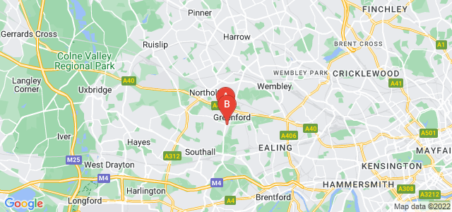 Google static map for Greenford