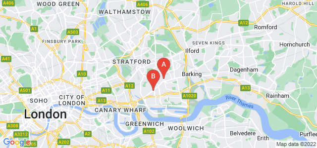 Google static map for Plaistow