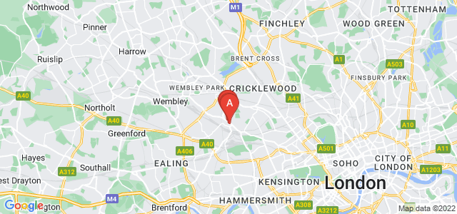 Google static map for Harlesden