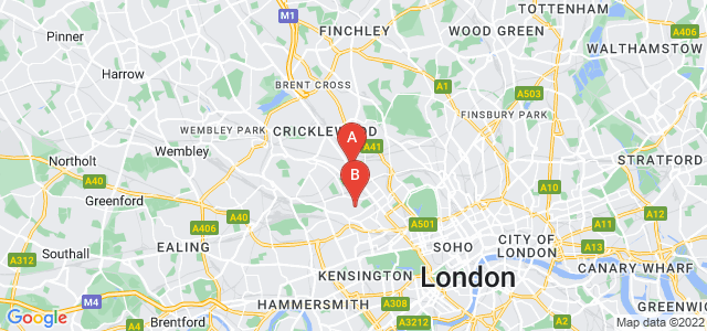 Google static map for Kilburn