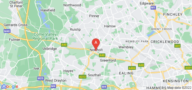 Google static map for Northolt
