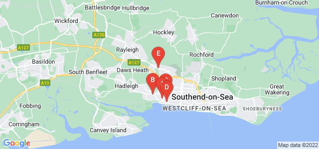Google static map for Leigh On Sea