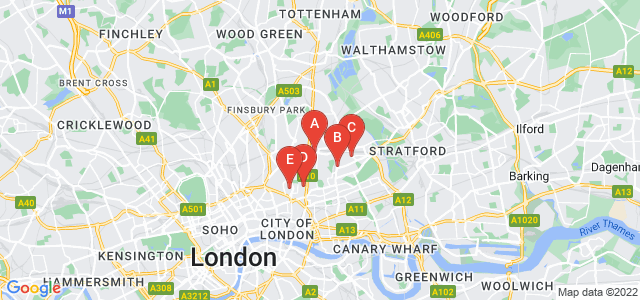 Google static map for Hackney