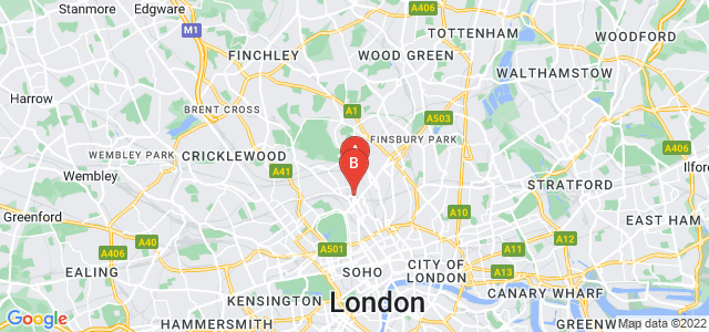Google static map for Kentish Town