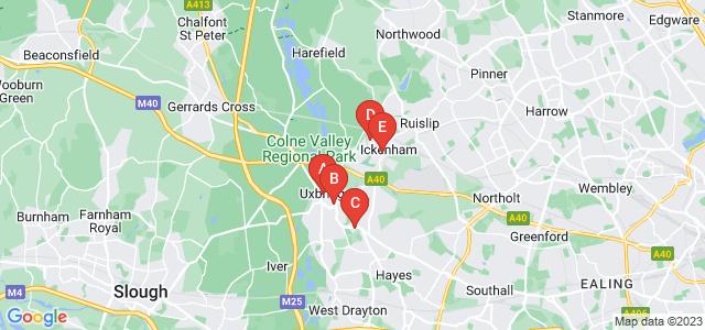 Google static map for Uxbridge