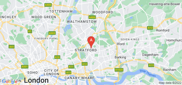 Google static map for Stratford