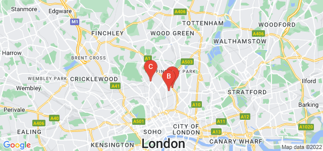Google static map for Holloway