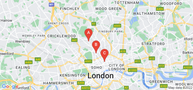 Google static map for Camden