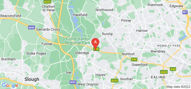 Google static map for Hillingdon