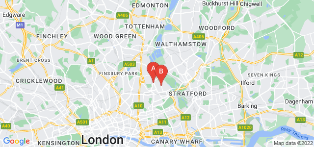 Google static map for Clapton