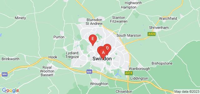 Google static map for Swindon