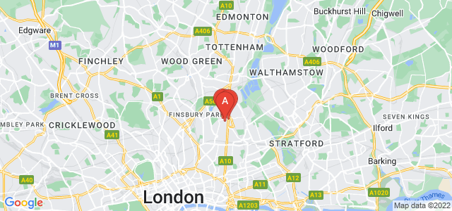 Google static map for Stoke Newington