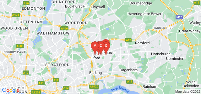 Google static map for Ilford