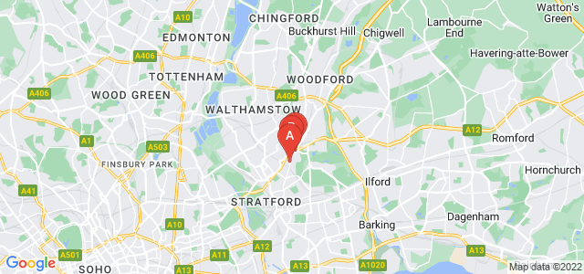 Google static map for Leytonstone