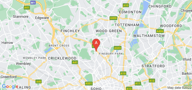 Google static map for Highgate