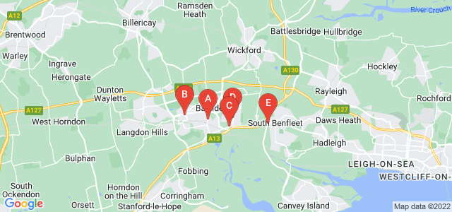 Google static map for Essex