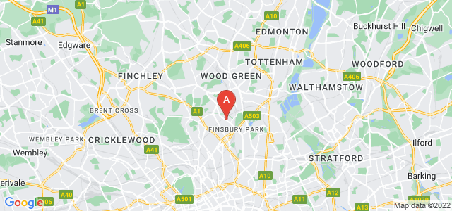 Google static map for Finsbury Park
