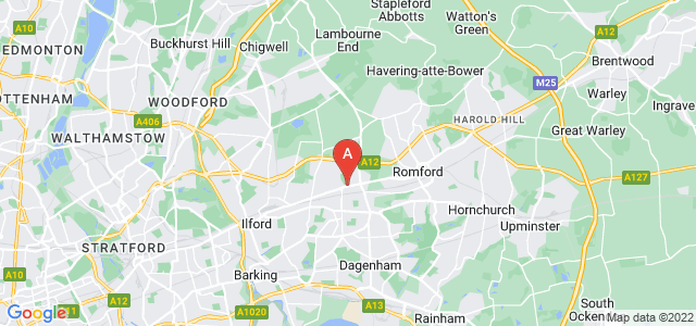 Google static map for Chadwell Heath
