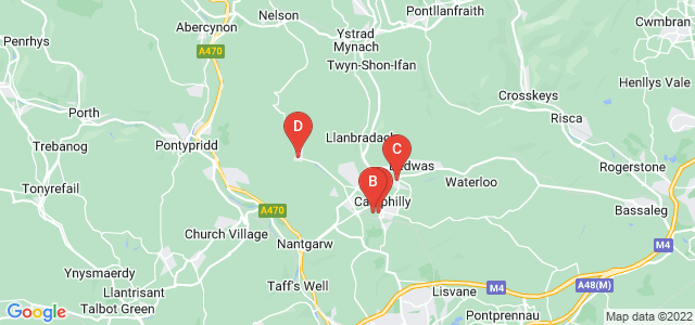Google static map for Caerphilly