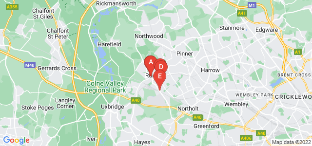 Google static map for Ruislip