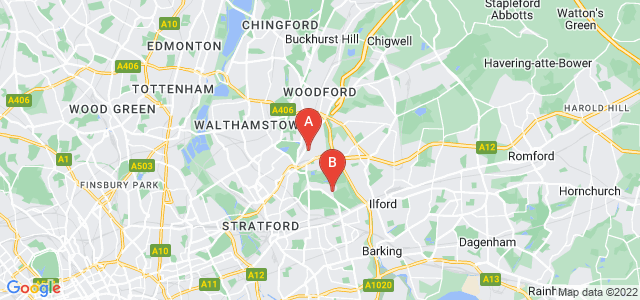 Google static map for Wanstead