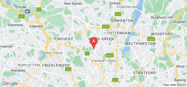 Google static map for Crouch End