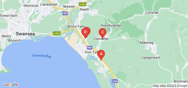 Google static map for Port Talbot