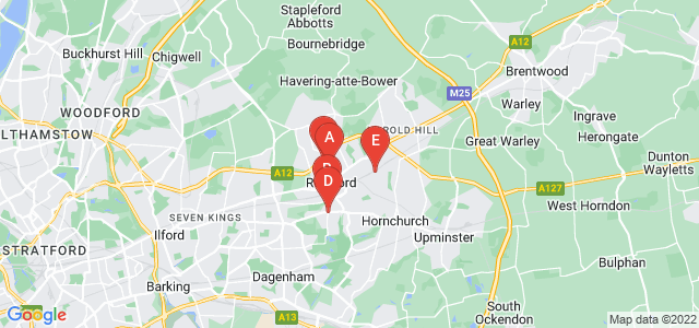 Google static map for Romford