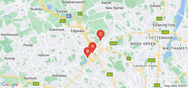 Google static map for Hendon