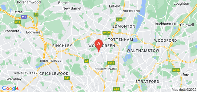 Google static map for Hornsey