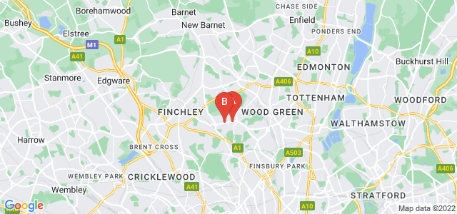Google static map for Muswell Hill