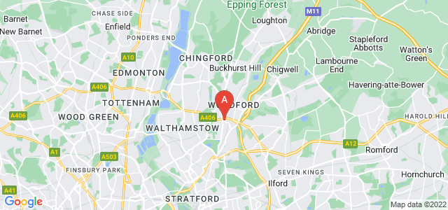 Google static map for Woodford
