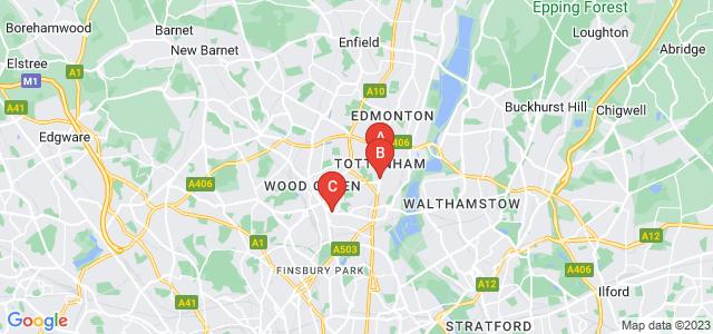 Google static map for Tottenham