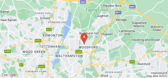 Google static map for Woodford Green