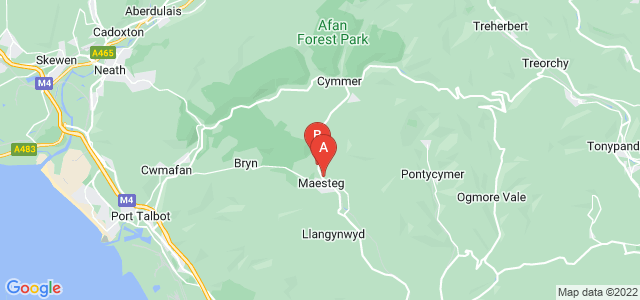 Google static map for Maesteg