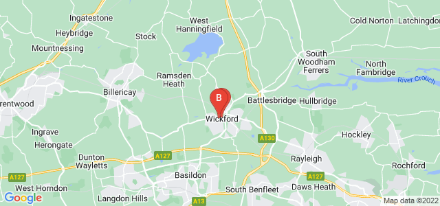 Google static map for Wickford