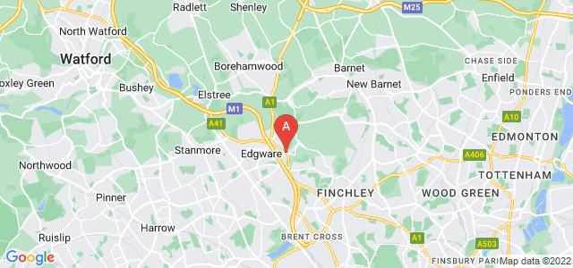 Google static map for Mill Hill