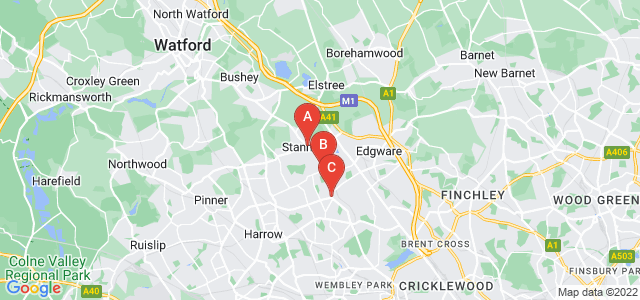 Google static map for Stanmore