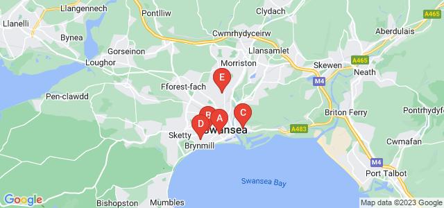 Google static map for Swansea