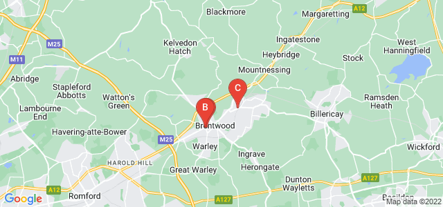 Google static map for Brentwood