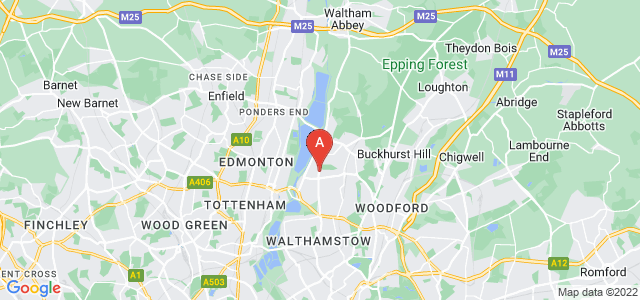 Google static map for South Chingford