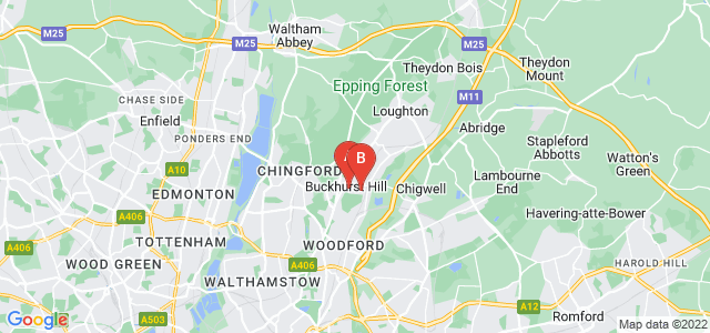 Google static map for Buckhurst Hill