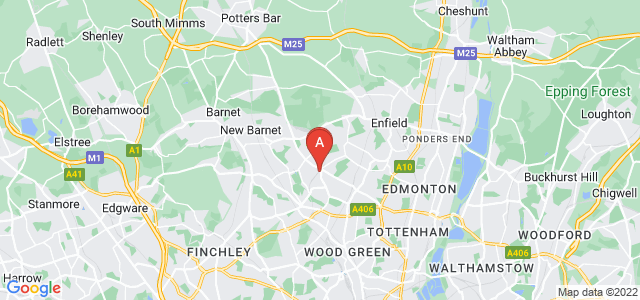 Google static map for Southgate