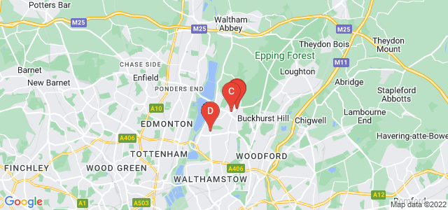 Google static map for Chingford