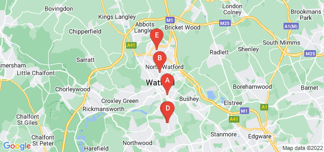 Google static map for Watford