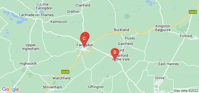 Google static map for Faringdon