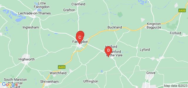 Google static map for Faringdon