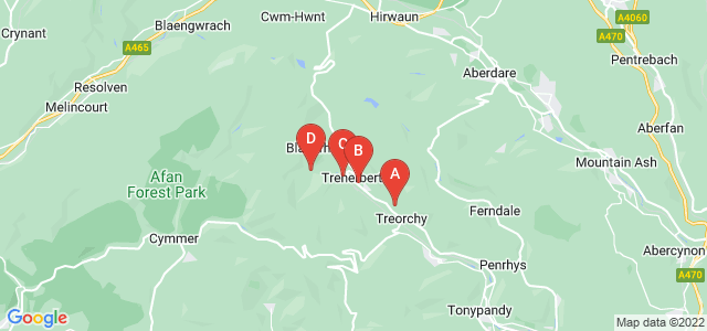 Google static map for Treorchy