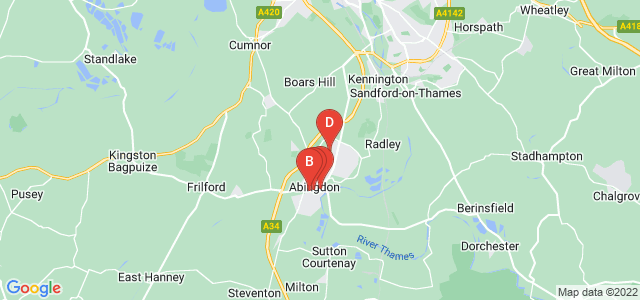 Google static map for Abingdon